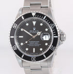 UNPOLISHED TRITIUM Rolex Submariner 16610 40MM Steel Black Date 40mm Watch Box