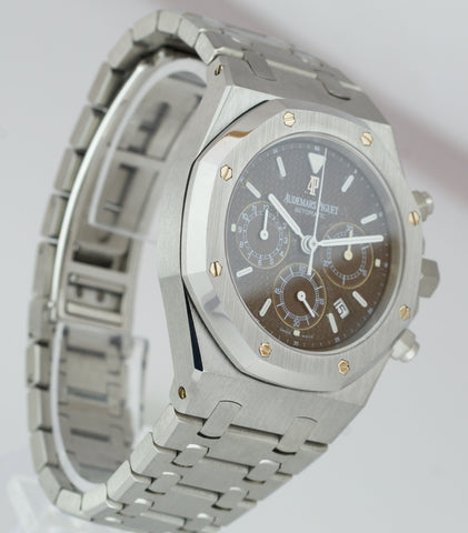 Audemars Piguet Royal Oak BLACK TROPICAL BROWN 39mm KASPAROV 25860ST Steel Watch