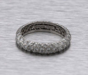 Ladies Tiffany & Co. 950 Platinum 2.66ctw Diamond Eternity Wedding Band Ring