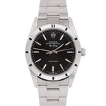 2007 UNPOLISHED Rolex Air-King Perpetual Black 34mm Oyster Steel Watch 14010 M