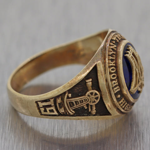 1942 Brooklyn Tech High School 10k Yellow Gold Class Ring