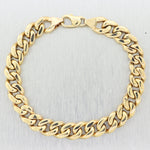 "Men's 55.70g 14k Yellow Gold Cuban Link 9"" Bracelet"