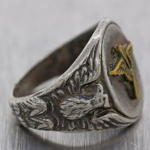 WWII Army Air Corps Sterling Silver Ring