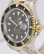 1991 Rolex Submariner 16613 Two-Tone 18K Gold Stainless Black 40mm Dive Watch