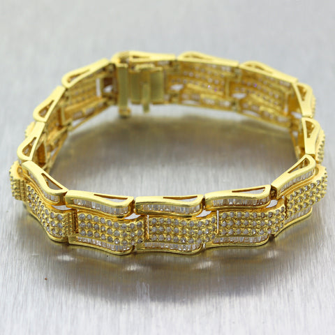 Men's 18k Yellow Gold 9ctw Diamond Bracelet