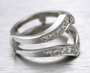 Lovely Ladies Unique 14K White Gold 0.72ctw Diamond Cocktail Ring