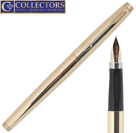 Vintage Solid 14K Yellow Gold Parker 75 Cartridge Fountain Pen - Medium (M) Nib