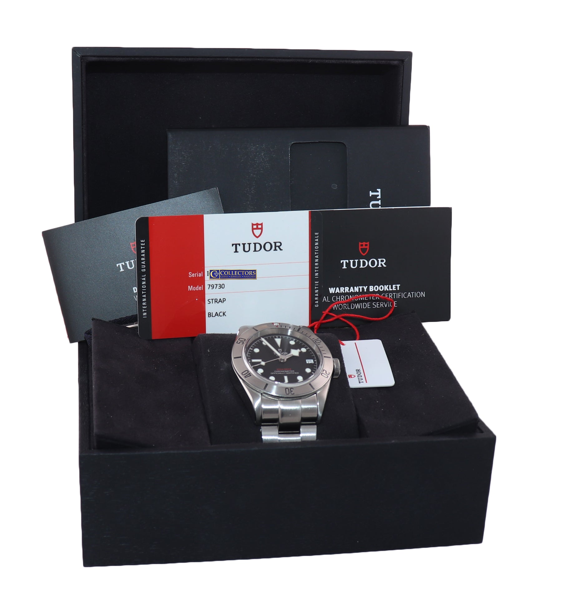 PAPERS Tudor Black Bay Steel 79730 Black Dial 41mm Dive Watch Nato Box