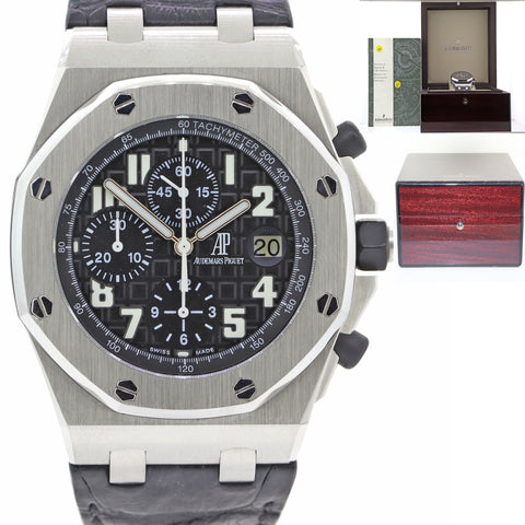 Audemars Piguet Royal Oak Offshore 26020ST.OO.D101CR.01 Chrono Watch Papers N8