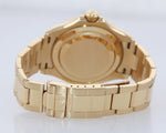 PAPERS 2005 MINT Rolex Yacht-Master 18k Yellow Gold White Dial 16628 40mm Watch