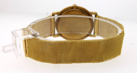 Vintage Audemars Piguet Ultra Thin 18K Yellow Gold Manual Mesh 31mm Ivory Watch