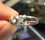 $7,750 Ladies Vintage Estate Platinum 1.50ctw Diamond Half Circle Wedding Band