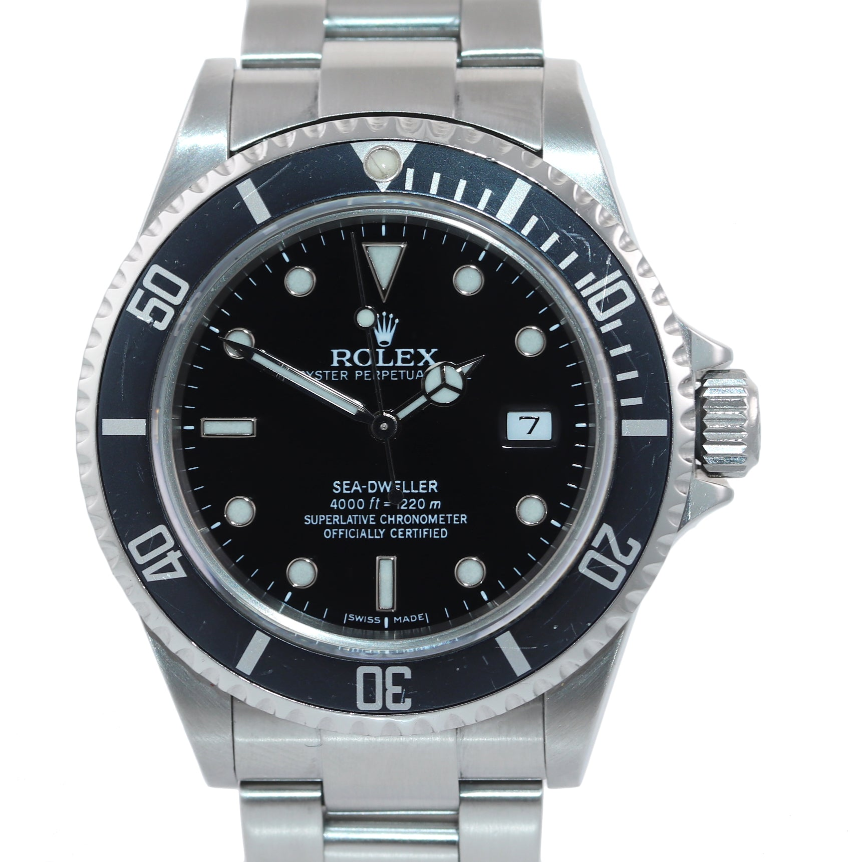 2008 Rolex Sea-Dweller 16600 Steel Oyster Black Dial Dive 40mm Watch Box