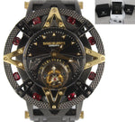 RARE Xoskeleton Star Tourbillon Black Gun Metal 904L 51mm Red Stone Watch