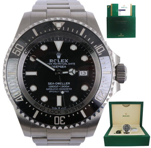MINT 2018 Rolex Sea-Dweller Deepsea 126660 Stainless Steel 44mm Black Dive Watch