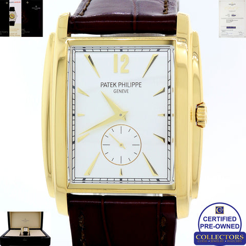 2017 Deco Patek Philippe Gondolo 18k Yellow Gold Silver 5124 J Watch Papers S8