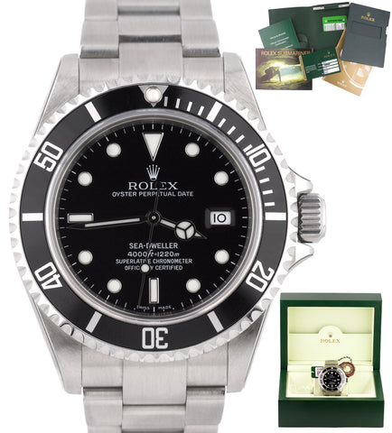 RARE NEW NOS STICKERED V-SERIAL 2009 Rolex Sea-Dweller 16600 FULL SET 40mm Watch