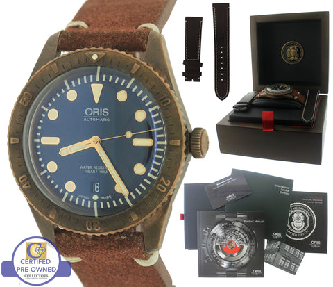 2016 Oris Carl Brashear Limited Edition 42mm Bronze Dive Watch 01 733 7720 3185