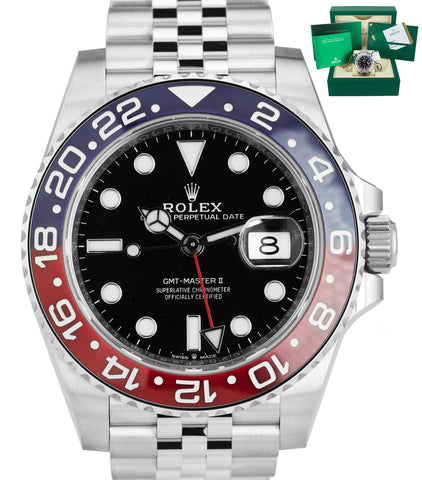 NEW NOVEMBER 2018 Rolex GMT Master II PEPSI Red Blue Ceramic 126710 BLRO Watch