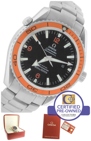 Omega Seamaster Planet Ocean Orange 42mm Co-Axial 600M 2209.50.00 Watch
