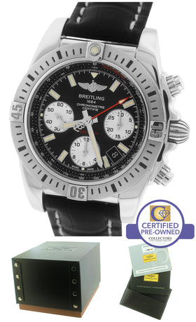 2016 Breitling Chronomat 41 Airborne B01 Auto Black 41mm Stainless AB0144 Watch