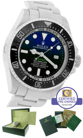 PAPERS 2014 Rolex Sea-Dweller Deepsea Cameron D-Blue 116660 44mm Dive Watch N8
