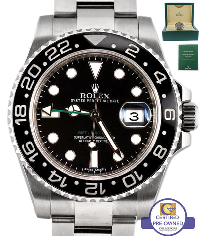 2018 MINT Rolex GMT-Master II Steel Black Ceramic 116710 N LN 40mm Date Watch N8