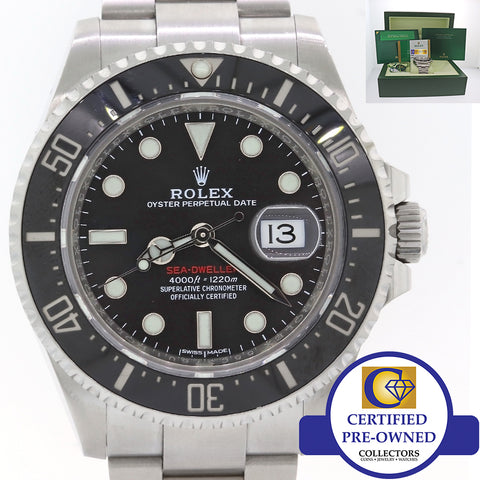 NEW TAGS Rolex Sea-Dweller Red SD43 Black Ceramic 126600 Steel Dive Watch A9