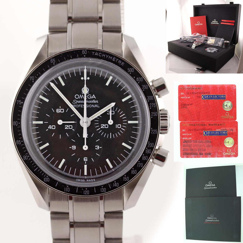 NEW 2019 Omega Speedmaster Professional 311.30.42.30.01.005 Steel Moon Watch