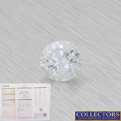 1.11ct GIA Certified Round Brilliant Cut I SI2 Natural Modern Loose Diamond Y8