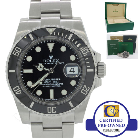 2018 Rolex Submariner Date 116610 LN Steel Black Dive Ceramic Watch w Box N8