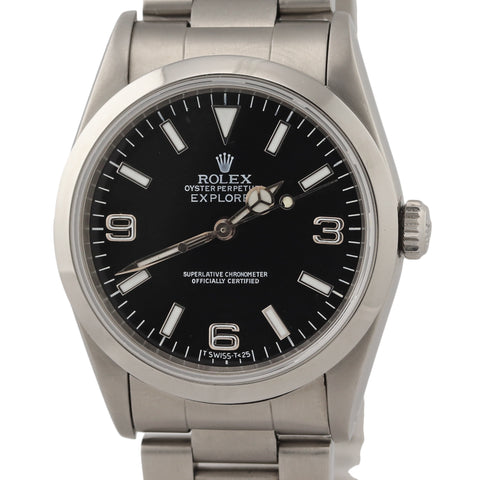 Rolex Explorer I 36mm 14270 Black Arabic Stainless Steel Oyster Automatic Watch N8