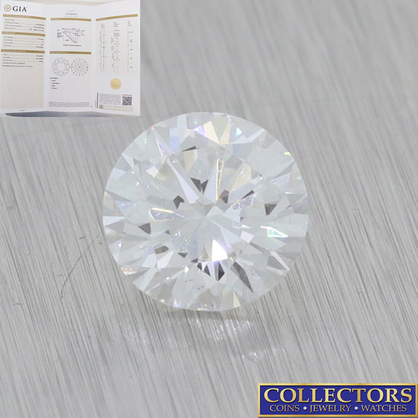 1.19ctw GIA Certified Round Brilliant Cut F SI1 Natural Modern Loose Diamond E8