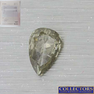 .21ct GIA Certified Pear Shape Brilliant Cut Fancy Green Natural Loose Diamond Y8