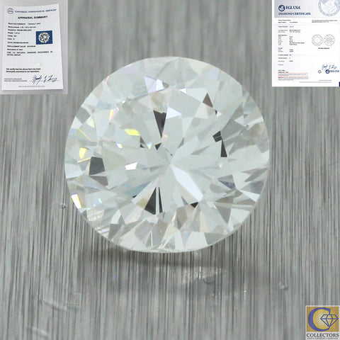 1.47ct EGL Certified Round Brilliant Cut G SI1 Natural Loose 7mm Diamond