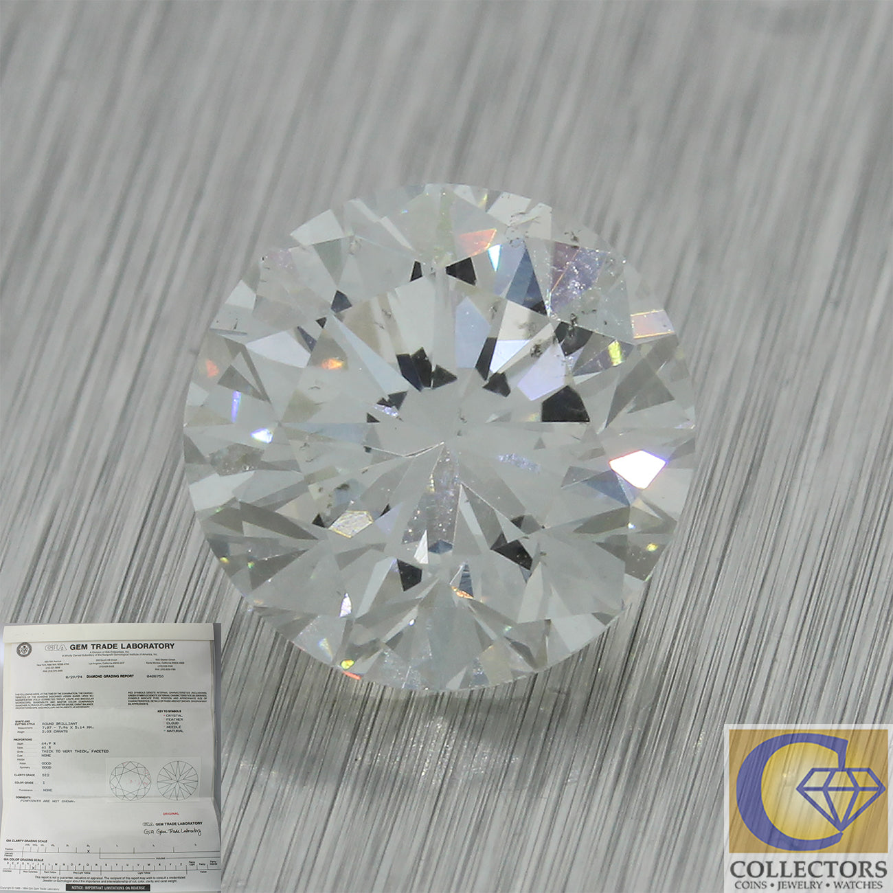 2.03ct GIA Certified Round Brilliant Cut I SI2 Natural Modern Loose Diamond