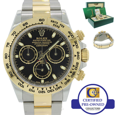 2019 NEW PAPERS Rolex Daytona Cosmograph 116503 Black Two Tone Steel Gold Watch