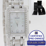 Movado Sika 66-25-0640 14k White Gold 19mm Quartz MOP Diamond Watch Papers S8