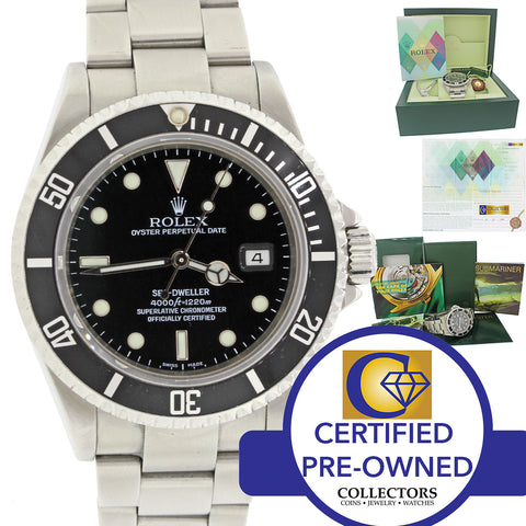 PAPERS UNPOLISHED 2007 Rolex Sea-Dweller Steel 16600 Date 40mm Black Watch Box