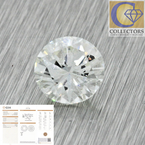 1.56ct GIA Certified Round Brilliant Cut J I1 Natural Loose Diamond