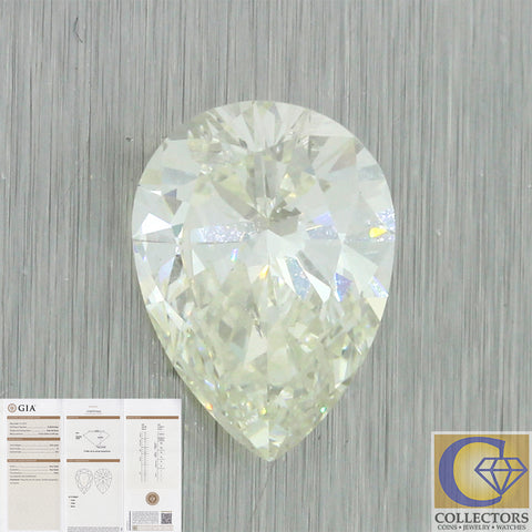 3.23ct GIA Certified Pear Shape Brilliant Cut K SI2 Natural Modern Loose Diamond