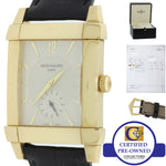 Deco Patek Philippe Gondolo 18k Gold 32mm Silver Dial Manual 5111 J Watch w Box