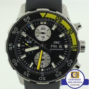 IWC Aquatimer Automatic Chronograph Day Date 44mm 3767 Steel Rubber Watch