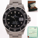 PAPERS 2000 Rolex Submariner Date 16610 Steel Watch SEL Pre-Ceramic Watch Box