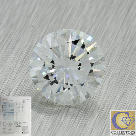 5.02ct GIA Certified Round Shape Brilliant Cut H VS2 Natural Modern Loose Diamond