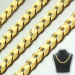 "Men's Modern 14k Solid Yellow Gold 22"" 24.7g Curb Link Chain"