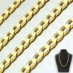 "Men's Modern 14k Solid Yellow Gold 22"" 15.5g Curb Link Chain"