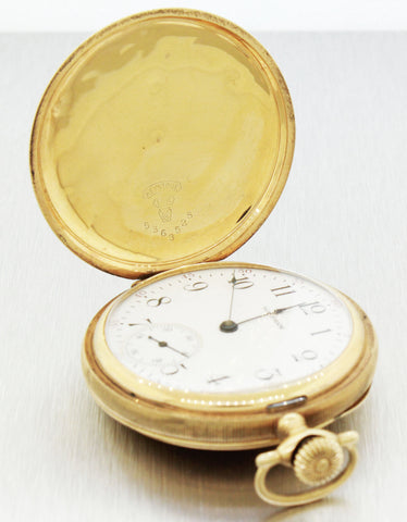 1899 Antique Waltham Solid 14k Yellow Gold 5363525 Pocket Watch 86.0g