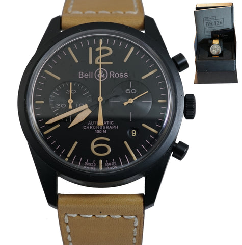 Bell & Ross Heritage Black PVD Chronograph Automatic BR 126-94-SC 42mm Watch