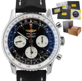 2014 Breitling Navitimer 01 Automatic 43mm Steel Black Chronograph Watch AB0120
